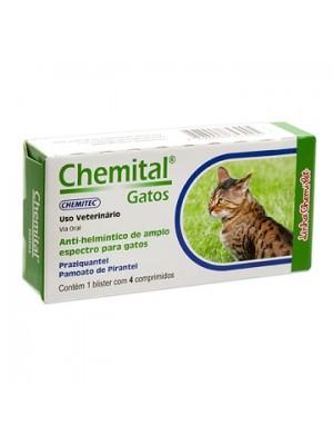 CHEMITAL GATOS - 4 COMPRIMIDOS