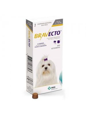 BRAVECTO 112,5mg P/CAES 02 a 4,5kg